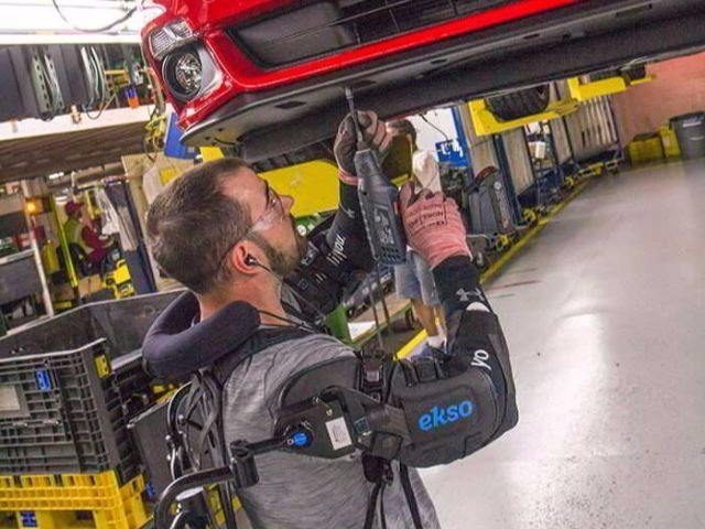 Exosuit used at Ford Plant