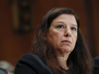Acting Director of Homeland Security Elaine Duke testifying before the Senate Committee on Homeland Security and Governmental Affairs on Capitol Hill in Washington, Wednesday, Sept. 27, 2017. (AP Photo/Pablo Martinez Monsivais)