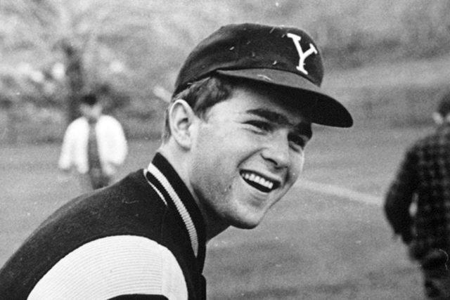 George W. Bush poses during his Yale University Years, 1964-1968.