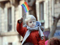 People take part in a demonstration for the legalisation of gay marriage and LGBT (lesbian, gay, bisexual, and transgender) parenting, in Paris on January 27, 2013, two days before a parliamentary debate on the government's controversial marriage equality bill, which will allow gay couples the same rights as their straight …