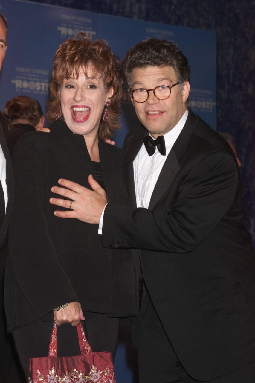 al franken allegedly grabbed joy behars breast at comedy