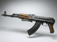 A picture taken on April 26, 2015 in Paris shows a kalashnikov AK-47 gun. AFP PHOTO / LIONEL BONAVENTURE (Photo credit should read LIONEL BONAVENTURE/AFP/Getty Images)