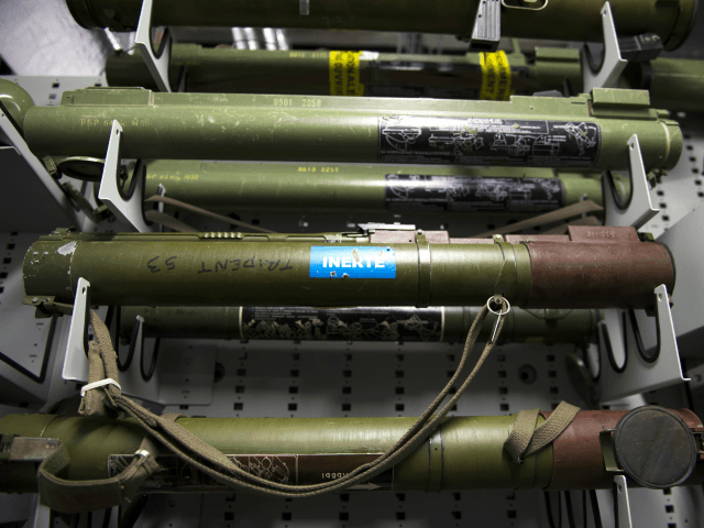 Bazookas are stored among some 8,000 weapons at the Criminal Research Institute of the National Gendarmerie (IRCGN), on May 19, 2015 in Pontoise, outside Paris. A scanner for autopsies, a collection of 8,000 weapons, 'data-gendarmes' to predict the evolution of delinquency: the gendarmerie includes hundreds of 'experts' in a brand …