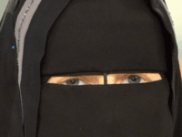 Nora Illi, the women's representative of an unofficial group called the Islamic Central Committee of Switzerland, wears a niqab as she attends a Sunday night talkshow on November 6, 2016 in Berlin. German public broadcaster ARD came under fire on November 7, 2016 for allowing Illi to wear a full-face …