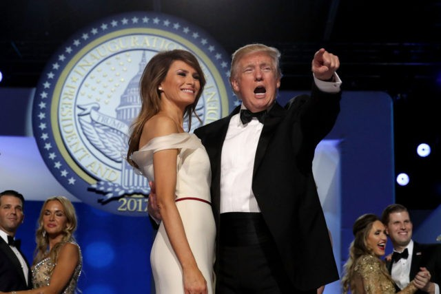 U.S. President Donald Trump dances with first lady Melania Trump during the inaugural Freedom Ball at the Washington Convention Center January 20, 2017 in Washington, DC. (Chip Somodevilla/Getty Images)
