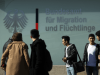 BERLIN, GERMANY - MARCH 27: Young men from Afghanistan who were arriving to participate in a demonstration against deportations gather near the Federal Office for Migrants and Refugees on March 27, 2017 in Berlin, Germany. The protesters were demanding an end to the deportations of migrants and refugees from Afghanistan …