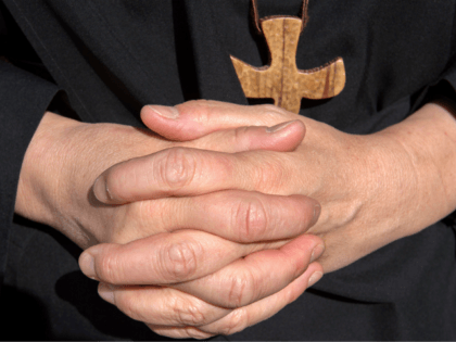 A nun's hands are pictured at the Saint-Vincent abbey in Chantelle on September 30, 2017. Sisters at the Saint-Vincent abbey in Chantelle, who employ some ten non-religious people, have been manufacturing beauty products since 1954 thanks to two of them, one a chemist and the other a mathematician. Body milk, …