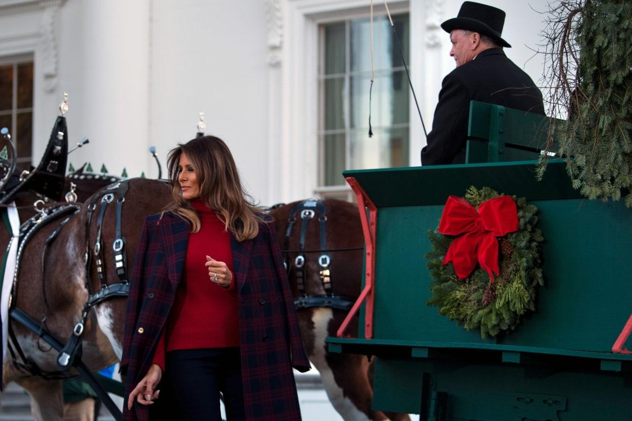 Fashion Notes Melania Trump Wears Calvin Klein Ralph