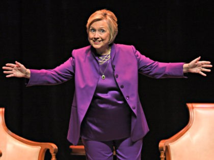 FORT LAUDERDALE FL - OCTOBER 03: Hillary Clinton speaks during her promotional book tour for What Happened at The Broward Center on October 3, 2017 in Fort Lauderdale, Florida. Credit: mpi04/MediaPunch/IPX