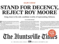 Three Alabama Newspapers Instruct Voters to 'Reject Roy Moore' With Front-Page Editorials