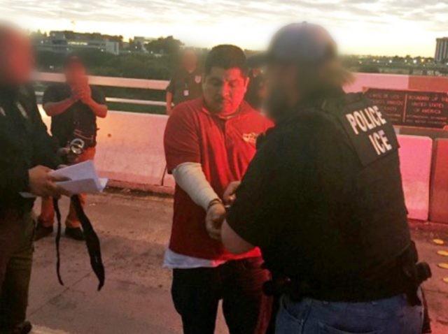 ICE ERO Officers arrest criminal alien.