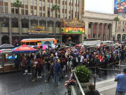 MeToo Hollywood march (Joel Pollak / Breitbart News)