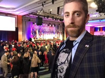 Joel Pollak at Trump victory party (Breitbart News)