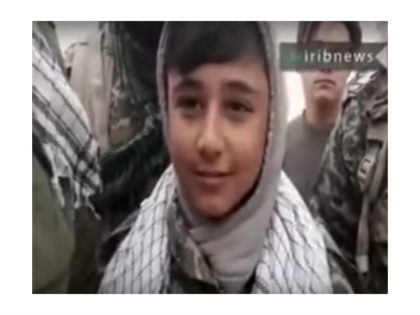 On Saturday, Iran's state-run TV, the Islamic Republic of Iran Broadcasting (IRIB), aired a video showing a 13-year-old child soldier, named Nemati, speaking about fighting in Syria under Soleimani's guidance.