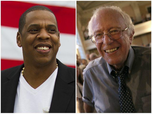 Jay Z Bernie Sanders AP