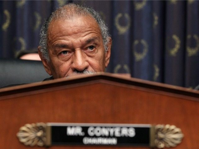 Chairman John Conyers (D-MI) listens to testimony from Attorney General Eric Holder during a House Judiciary Committee hearing on Capitol Hill May 13, 2010 in Washington, DC. Attorney General Holder told the committee that several people have been arrested after search warrants were served in the case of the bombing …