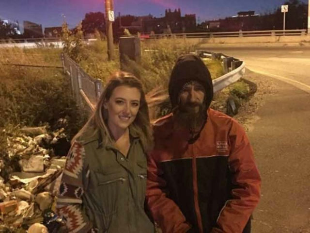 Woman raises money for homeless man who spent $20 to help her