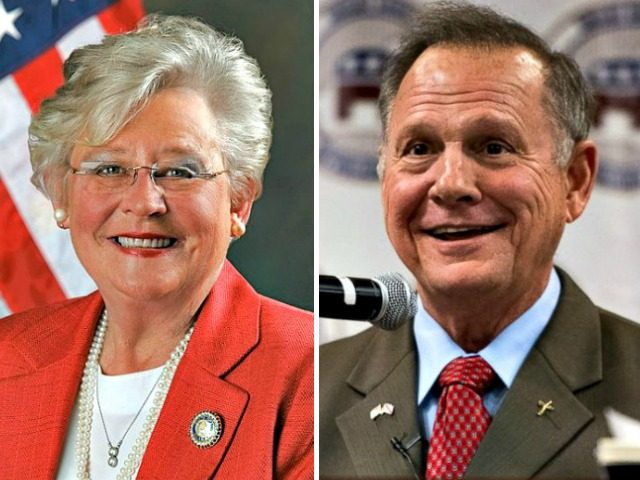 Kay Ivey and Roy Moore
