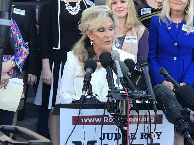 Roy Moore wife Kayla Moore speaks at Women for Moore event, 11/17/17