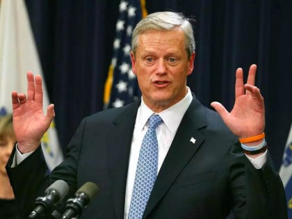 BOSTON, MA - NOVEMBER 14: Massachusetts Governor Charlie Baker unveils new administration action, including legislation to battle the opioid epidemic, during a press conference at the Massachusetts State House in Boston on Nov. 14, 2017. (Photo by John Tlumacki/The Boston Globe via Getty Images)