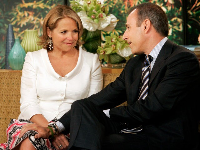 "Matt Lauer says his farewell to Katie Couric, his exiting co-host of the NBC ""Today"" television program in the studio, Wednesday May 31, 2006. With Lauer bringing the tissues, the ""Today"" show threw a going-away party Wednesday for 15-year host Katie Couric, who is leaving to become the next anchor …"