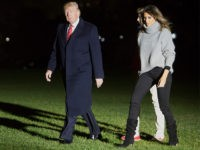 WASHINGTON, DC - NOVEMBER 26: U.S. President Donald Trump, First Lady Melania Trump and their son Barron Trump return to the White House on November 26, 2017 in Washington, DC. The first family is returning after a multi day trip to Florida over the Thanksgiving holiday. (Photo by Chris Kleponis-Pool/Getty …