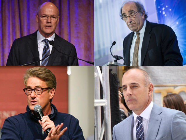 Andy Lack (BRENDAN SMIALOWSKI/AFP/Getty Images) Joe Scarborough (AP Photo/Steven Senne) Phil Griffin (Bryan Bedder/Getty Images for IWMF) Matt Lauer (RW/MediaPunch/IPX)