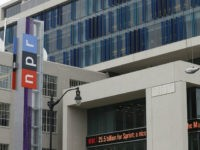 National Public Radio, whose Washington, D.C., headquarters are shown, has seen two senior news executives depart in recent weeks after allegations of sexual misconduct. (Charles Dharapak / Associated Press)