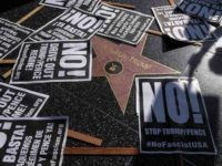 Refuse Fascism Donald Trump star (Ringo Chiu / AFP / Getty)