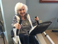 101-Year-Old Holocaust Survivor Celebrates Her Birthday with a Workout