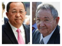 Collage: Cuban dictator Raúl Castro met North Korea's foreign minister, Ri Yong-ho, in Havana on Friday before the two issued a joint statement of solidarity.