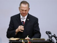 Republican candidate for U.S. Senate Judge Roy Moore speaks during a campaign event at the Walker Springs Road Baptist Church on November 14, 2017 in Jackson, Alabama. The embattled candidate has been accused of sexual misconduct with underage girls when he was in his 30's. (Photo by Jonathan Bachman/Getty Images)