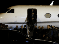 Lebanese Prime Minister Saad Hariri walks down the steps of an airplane upon arriving at the Rafik Hariri International Airport in Beirut, Lebanon, Tuesday, Nov. 21, 2017. Hariri has returned to Beirut more than two weeks after announcing while in Saudi Arabia that he had resigned his post. (AP Photo/Bilal …