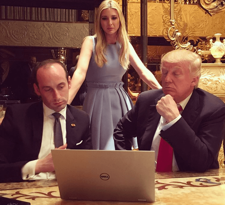 Ivanka also shared photos her helping Trump work on his victory speech that night.