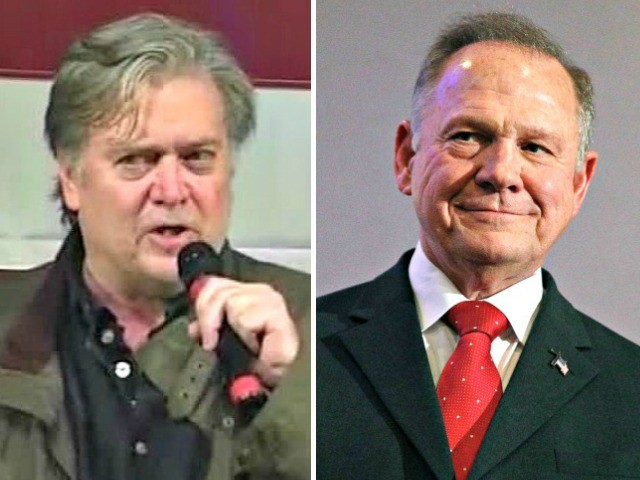 Steve Bannon to Campaign with Roy Moore Election Eve in Dothan, Alabama