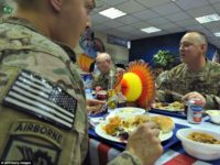 Thanksgiving Meal Provides U.S. Troops Moment's Respite from Anti-Jihad War