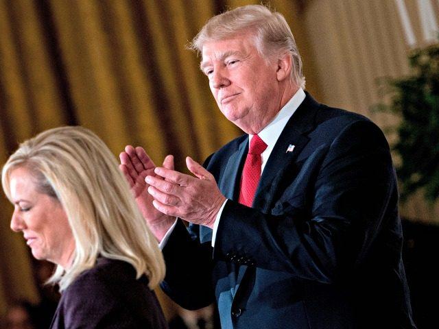 Trump Applauds Kirstjen Nielsen