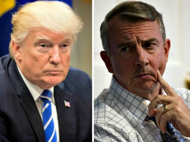 Donald Trump and Ed Gillespie collage AP