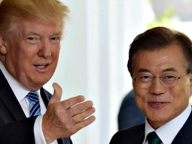 Trump and Moon Jae-in AP