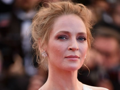 Uma Thurman attends the Closing Ceremony and 'A Fistful of Dollars' screening during the 67th Annual Cannes Film Festival on May 24, 2014 in Cannes, France. (Photo by Ian Gavan/Getty Images)