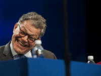 MINNEAPOLIS, MN - JULY 18: Sen. Al Franken (D-MN) reacts during Democratic Presidential candidate Hillary Clinton's speech at the Minneapolis Convention Center on July 18, 2016 in Minneapolis, Minnesota. Clinton addressed the annual American Federation of Teachers Convention. (Photo by Stephen Maturen/Getty Images)