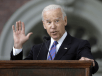 FILE - In this May 24, 2017, file photo, former Vice President Joe Biden delivers the annual Harvard College Class Day address on the campus of Harvard University, in Cambridge, Mass. Just days after launching a new political action committee, former Biden will join Republican officials and donors at a …