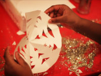 arts and crafts with glitter and snowflakes