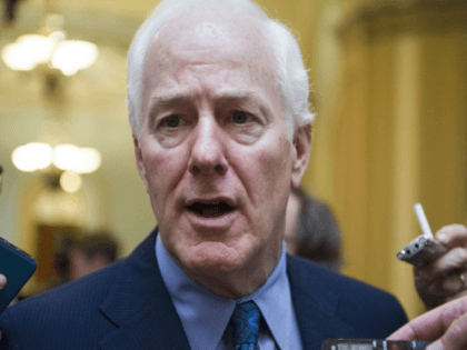 In this July 27, 2017, file photo, Senate Majority Whip John Cornyn of Texas talks to reporters as heads to the Senate on Capitol Hill in Washington. Top Senate Republicans think it's time to leave their derailed drive to scrap the Obama health care law behind them. And they're tired …