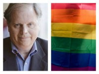 Doug Jones and LGBT flag collage