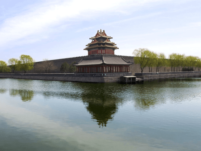 The northwest corner of the Forbidden City, Beijing, China