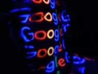 LONDON, ENGLAND - AUGUST 09: In this photo illustration, The Google logo is projected onto a man on August 09, 2017 in London, England. Founded in 1995 by Sergey Brin and Larry Page, Google now makes hundreds of products used by billions of people across the globe, from YouTube and …