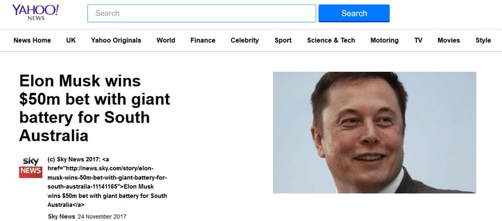 Musk bet