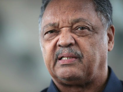 Civil rights leader Reverend Jesse Jackson leads a small group from the Rainbow PUSH Coalition in a protest outside the United Airlines terminal at O'Hare International Airport on April 12, 2017 in Chicago, Illinois. United Airlines has been struggling to repair their corporate image after a cell phone video was …