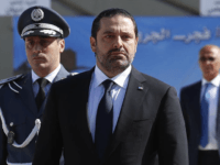 In this photo taken on Friday, Sept. 8, 2017, Lebanese Prime Minister Saad Hariri, left, arrives for a mass funeral of ten Lebanese soldiers at the Lebanese Defense Ministry, in Yarzeh near Beirut, Lebanon. Lebanese prime minister Saad Hariri has announced he is resigning in a surprise move following a …